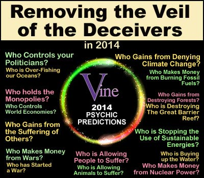 2014 Vine Psychic Predictions Spiritual Channeling