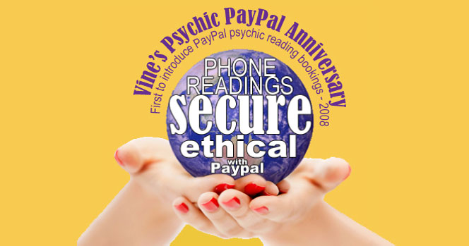 Vine's PayPal Psychic Reading Bookings & Psychic Line History