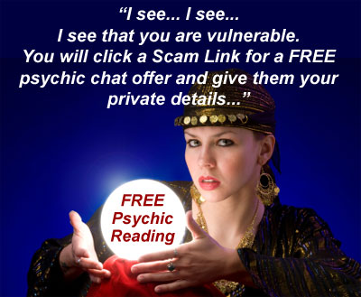 Free psychic reading scam links