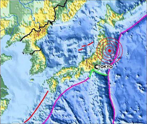Japanese Earth Quake Zone