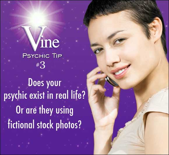 Vine - Australian Phone Psychic Readings Tips - Does your psychic exist in real life? Or are they using fictional stock photos?