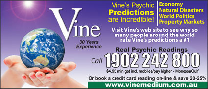 Vine Psychic Predictions - Bookings