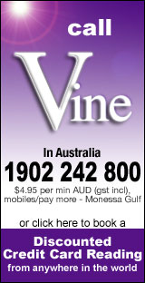 Call Vine's Australian 1902 Phone Phone Readings Line, or book a discounted reading online