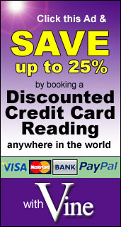 Book a Discount Credit Card Reading 	  with Australian Psychic Vine