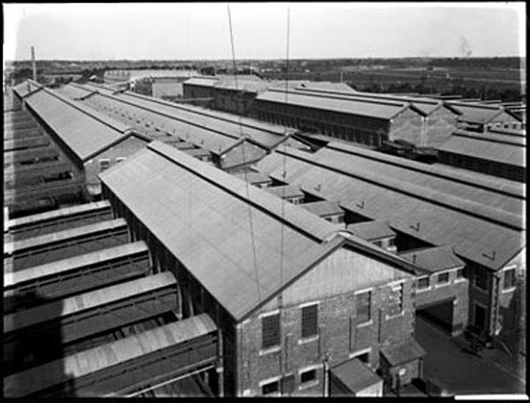 picture of Homebush Abattoir, now the site for Stadium Australia, Olympic Park, Sydney.